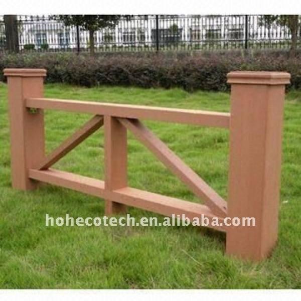No - pintura, resistente a la intemperie, retardante de fuego, resistente a uv de esgrima wpc wpc valla compuesta wpc valla del jardín