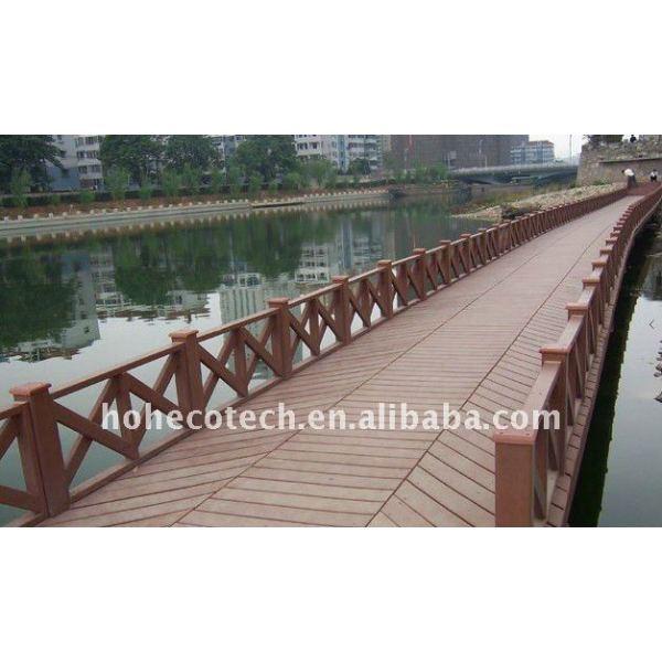 Decking composé en plastique en bois de panneau de plancher/plate-forme/decking/bois de charpente en plastique wpc de plancher (CE, ROHS, ASTM, Intertek)