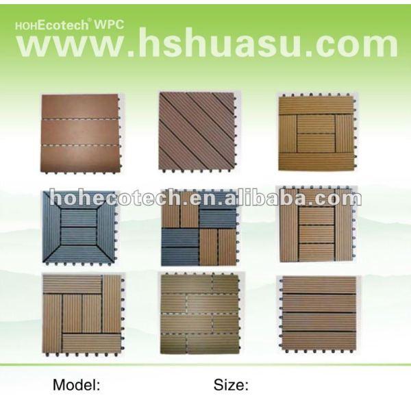 decking/carrelage composé en plastique en bois respectueux de l'environnement/tuile diy