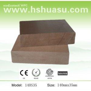natural olhar plástico compósito de madeira deckings