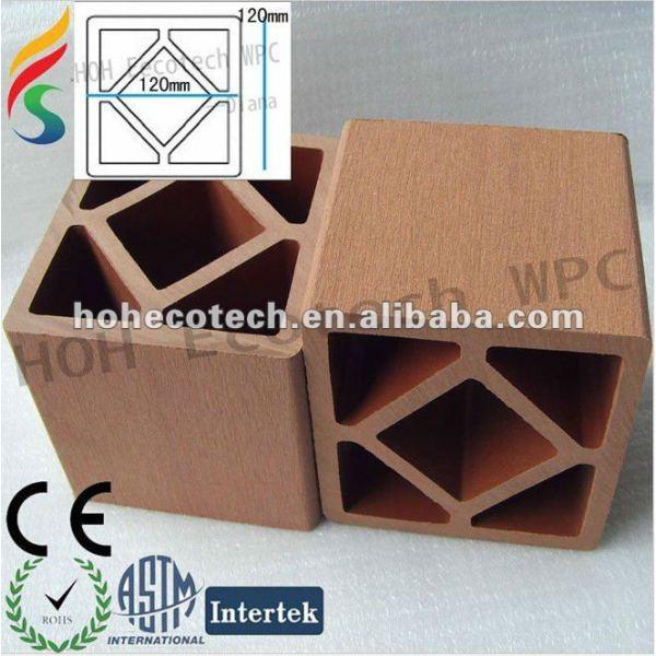 ¡Venta caliente! Riegue el poste del wpc de la prueba (compuesto plástico de madera) para los pasos/el poste del pasamano/el poste al aire libre de la escalera