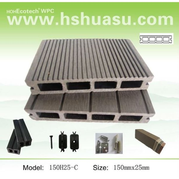 bois plastique composite decking