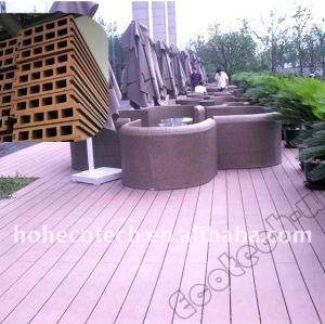 Decking extérieur de composé de décoration de decking de wpc de lieux publics