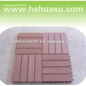 Le Decking composé en plastique en bois de sensation normale embarque/decking/carrelage composés en plastique en bois respectueux de l'environnement