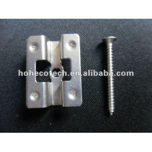 Calidad superior de accesorios decking de wpc, clips de acero inoxidable