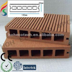 Piso impermeable de alta resistencia del decking del wpc (compuesto de madera plástico)