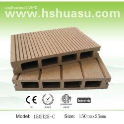 meilleure vente de bois plastique composite decking plein air