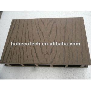 100% reciclado wpc exterior piso oco ( decking de wpc/ painel de parede wpc/ wpc produtos de lazer )