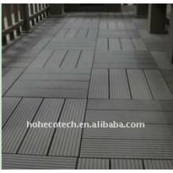 superficie di levigatura decking di wpc piastrelle fai da te legno decking composito di plastica piastrelle