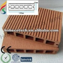 Decking recyclable de composé de decking de 100% WPC