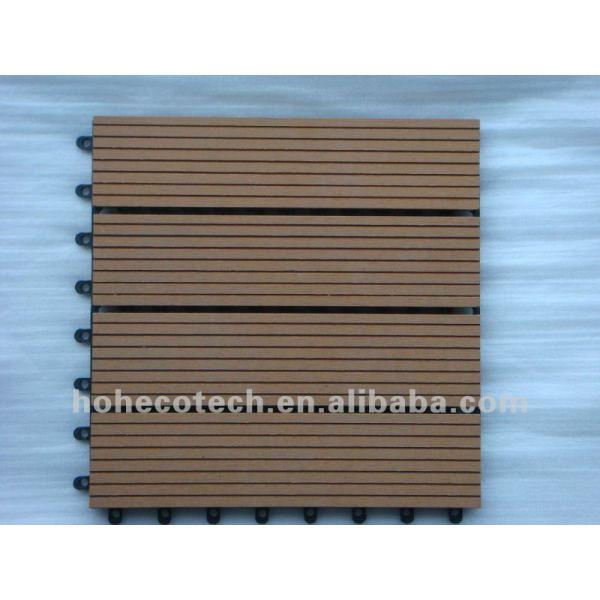 de la larga vida de grano de madera wpc azulejo de piso
