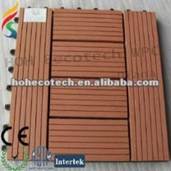 Fácil instale el azulejo de WPC DIY (para el cuarto de baño/la cocina/el pasillo) (el compuesto plástico de madera)