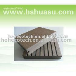 Sólido 140s25 wpc compuesto plástico de madera decking/suelo ( ce, rohs, astm, iso9001, iso14001, intertek )