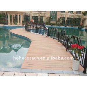 Wpc decking projekt- huasu neue technologie wpc holz-kunststoff-verbundmaterial terrassendielen terrasse planke