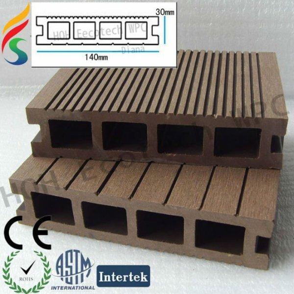 Hölzerner zusammengesetzter Decking mit verschiedenen Größen und Farben
