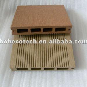 la langue et la cannelure de 150x25mm embarquent le decking composé en plastique en bois extérieur de la plate-forme composée WPC de WPC