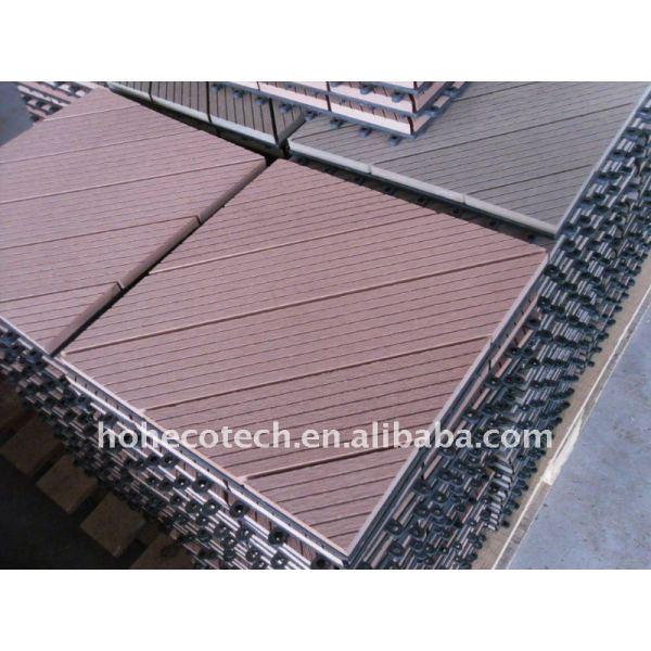 populares al aire libre de bambú decking del wpc bricolaje cubierta de teja wpc suelo junta wpc azulejos