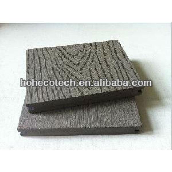 Le grain du bois de plancher wpc, deck étage avec grain de bois