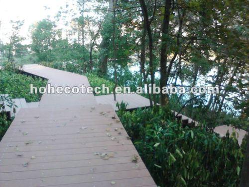 Decking composé en plastique en bois public de la construction WPC/plate-forme en bois wpc de plancher (CE, ROHS, ASTM, OIN 9001, OIN 14001, Intertek)
