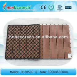 Деревянное пластичное wpc плитки decking