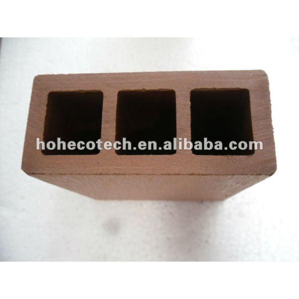 100% reciclado wpc de alta calidad al aire libre barandilla de correos ( wpc suelo/wpc panel de pared/wpc productos de ocio )