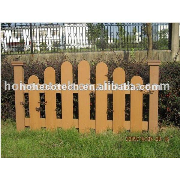 Natural de la madera buscando wpc compuesto plástico de madera de esgrima/barandilla/post