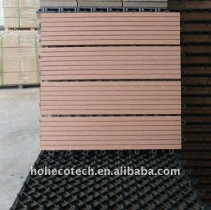 9 le decking du wpc DIY de MODÈLES embarque le decking composé en plastique en bois interne et externe /flooring du plancher WPC