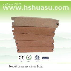 panneau de plancher composé en plastique en bois