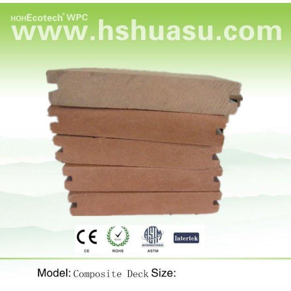 compuesto plástico de madera suelo junta
