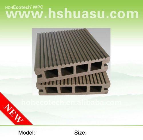 Wpc bois plastique composite decking/plancher ( ce, rohscertificat, astm., iso 9001,14001, intertek ) wpc panneau de plancher terrasse en bois