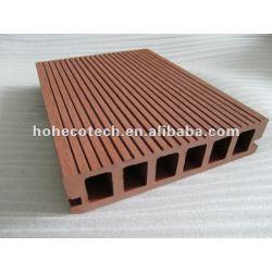 WPC hölzerner zusammengesetzter Deckingplastikfußboden/anti-aging sorgloser zusammengesetzter Decking-/ecoWPC Decking