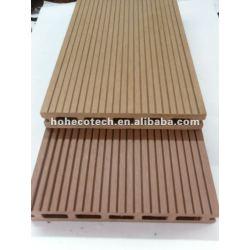 Begrüßen Sie 145x22mm der im Freien Bambus/wood Decking hölzernen zusammengesetzten Plastikdecking/Bodenbelagbrett wpc Plattformfliesebauholz