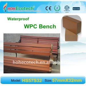 Les composés en plastique en bois mettent hors jeu le bois normal regardant et sentent le banc EXTÉRIEUR de wpc
