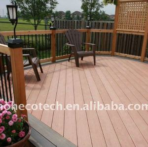 Water-Resistant WPC Decking Board Engineered flooring outdoor WPC wood plastic composite decking/flooring