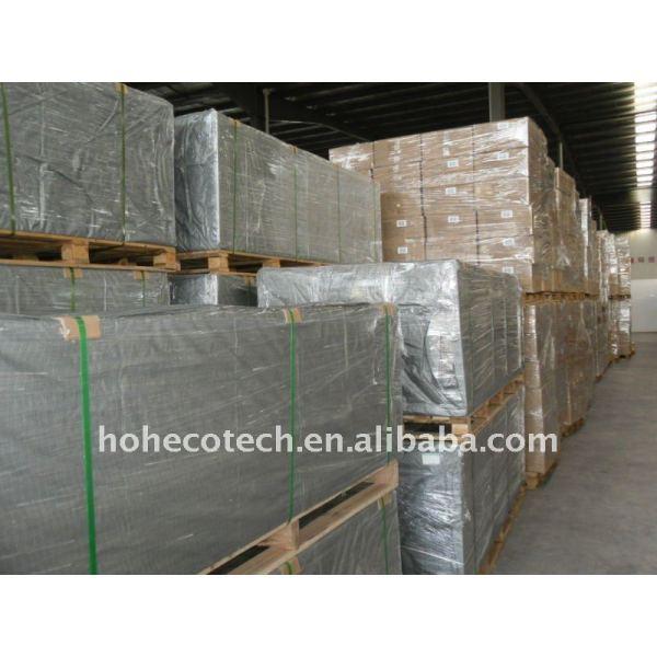 Unser Paket Baumaterial WPC des hölzernen zusammengesetzten Plastikdecking/des Bodenbelag wpc Decking