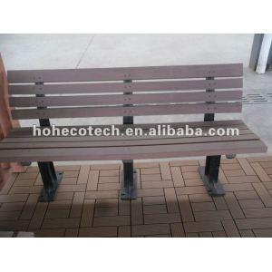 Chaise extérieure de wpc respectueux de l'environnement durable (preuve de l'eau, résistance UV, résistance à se décomposer et fente)