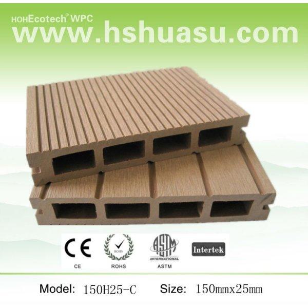 Cuidado- libre de madera compuesto de plástico deckings