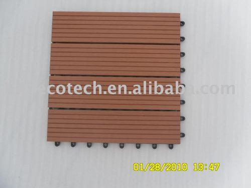Tuiles en plastique en bois des composés (WPC)