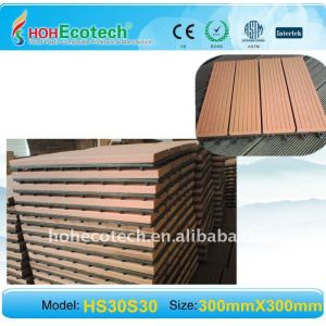 madeira telhas decking de wpc título telha ao ar livre impermeável piso composto telha