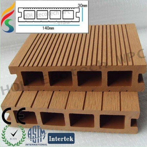 de madera y de plástico biofiber decking compuesto