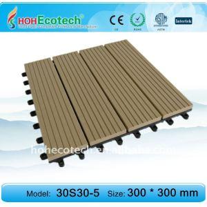 azulejo del decking/de piso (compuesto plástico de madera respetuoso del medio ambiente)