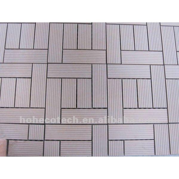 hermoso piso del wpc azulejo