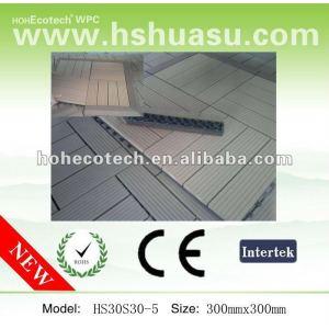 Fácil de instalar compuesto plástico de madera wpc sauna junta/bricolaje cerámica/cuarto de baño de plástico azulejo de piso para el jardín borde/balcón/patio