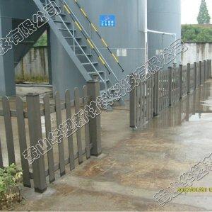Projet de wpc de HUASU, decking de wpc, clôture de wpc