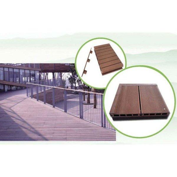 polietileno de alta densidad de polvo de madera compuesto de piso