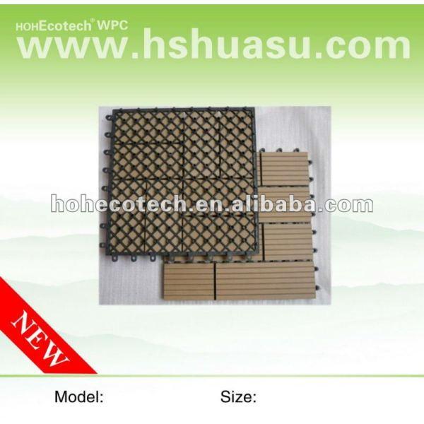 Azulejo de la cubierta tile/DIY de WPC/azulejo compuesto plástico de madera del decking