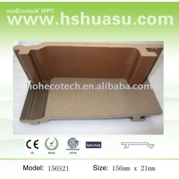 compuesto plástico de madera wpc pared pannl