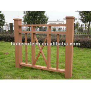 Vente chaude ! Arrosez la balustrade d'escalier de wpc de preuve (composé en plastique en bois)/balustrade de jardin