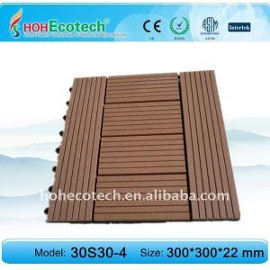 decking/composé en plastique en bois respectueux de l'environnement carrelage