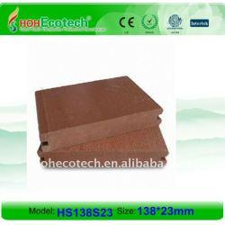 Decking composé en plastique en bois plein de la conception 138*23mm WPC/plate-forme en bois wpc de plancher (CE, ROHS, ASTM, OIN 9001, OIN 14001, Intertek)